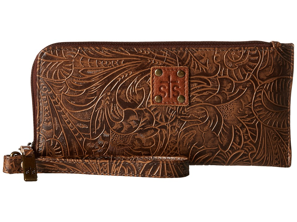 STS Ranchwear - The Floral Clutch (Mocha) Clutch Handbags