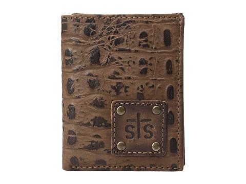 STS Ranchwear The Foreman Hidden Cash Wallet - Brown Croc