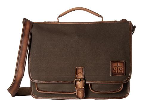 STS Ranchwear The Foreman Portfolio - Dark Khaki Canvas/Leather