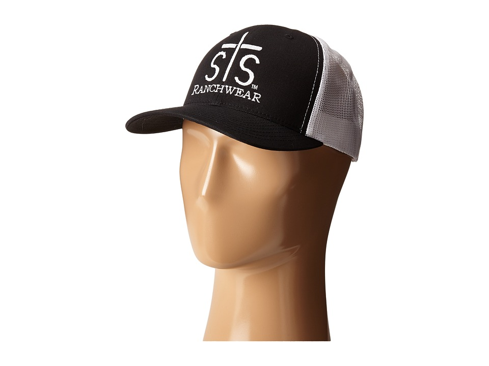 STS Ranchwear STS Ranchwear Cap Black/White Mesh Caps