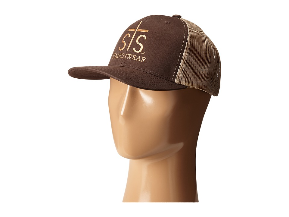STS Ranchwear STS Ranchwear Cap Brown/Khaki Mesh Caps