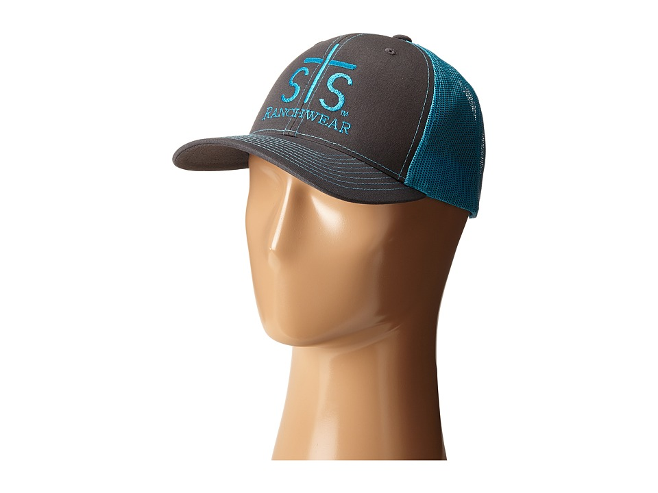 STS Ranchwear STS Ranchwear Cap Charcoal/Neon Blue Mesh Caps
