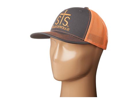 STS Ranchwear STS Ranchwear Cap - Charcoal/Neon Orange Mesh
