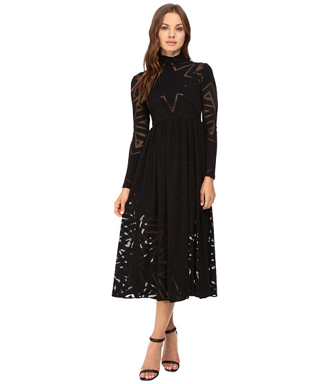 Mara Hoffman Compass Burnout Midi Dress