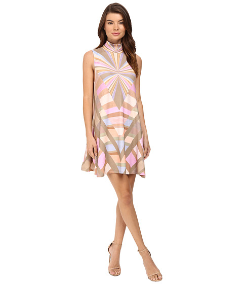 Mara Hoffman Prism Turtleneck Swing Dress