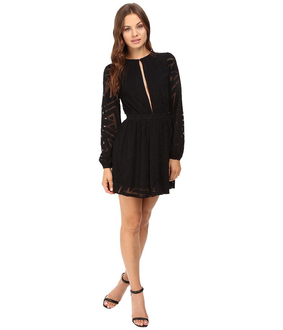 Mara Hoffman Compass Burnout Mini Dress (Black) Women