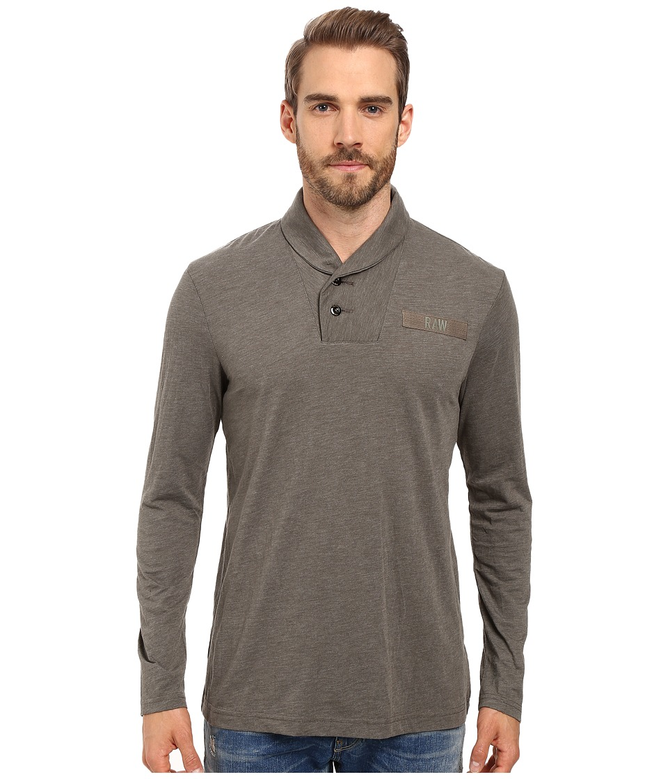 G-Star Gilik Long Sleeve Tee in Jisoe Jersey (Gs Grey) Men