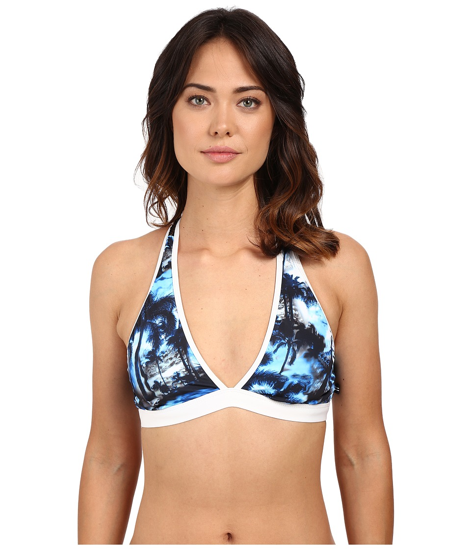 Nautica Palm to Perfection Sport Bra NA33136 Black Womens Swimwear