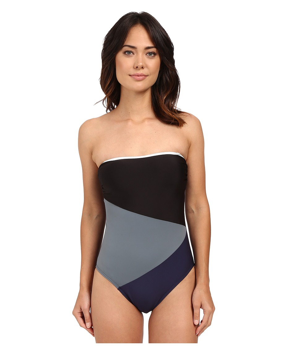 Nautica Block Tackle One Piece NA34506 Navy Womens Swimsuits One Piece