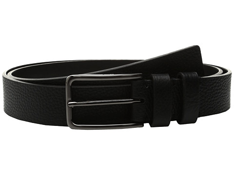 Calvin Klein 35mm Large Grain Shrunken Leather Belt with Two Loops