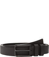 Calvin Klein - 35mm Large Grain Shrunken Leather Belt with Two Loops
