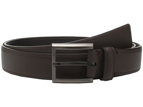 Calvin Klein 35mm Feather Edge Belt with Stitched Edge