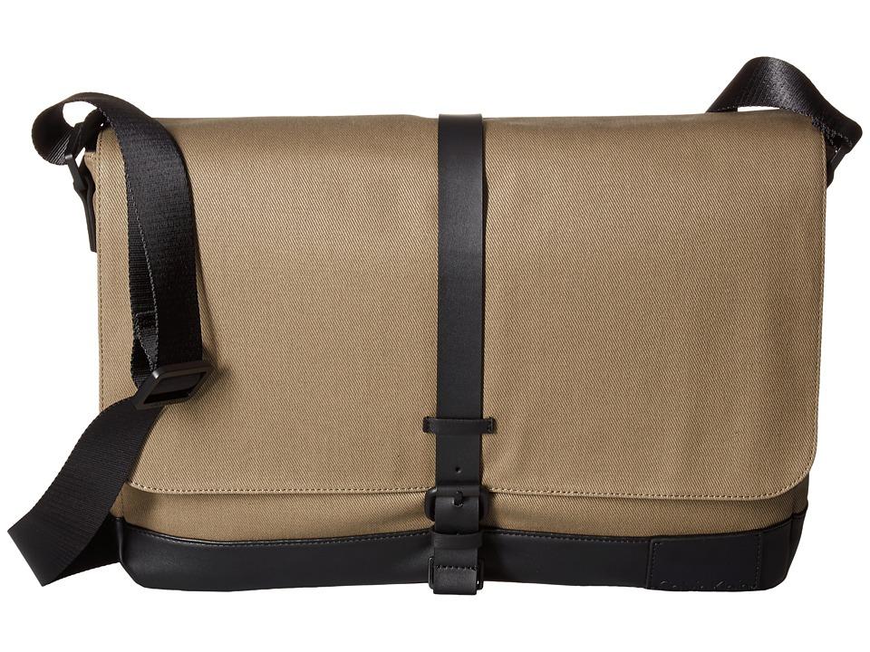 Calvin Klein - Coated Canvas Messenger Bag (Fatigue/Black) Messenger Bags