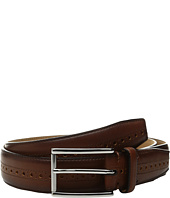 Cole Haan - 32mm Stitched Edge Belt with Perforated and Hand Burnished Detail