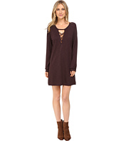 Lanston - Lace-Up Sweatshirt Dress