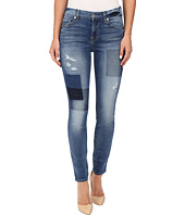 7 For All Mankind - Ankle Skinny w/ Clean Patches in Light Patched Denim