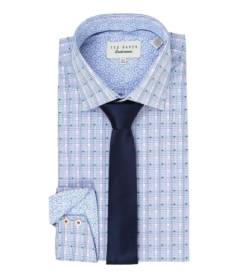 Ted Baker Fabron Endurance Sterling Shirt Blue Mens Long Sleeve Button Up