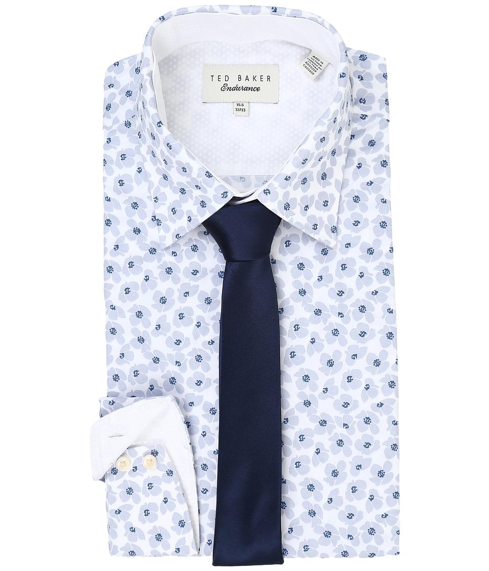 Ted Baker Farnley Endurance Timeless Shirt Grey Mens Long Sleeve Button Up