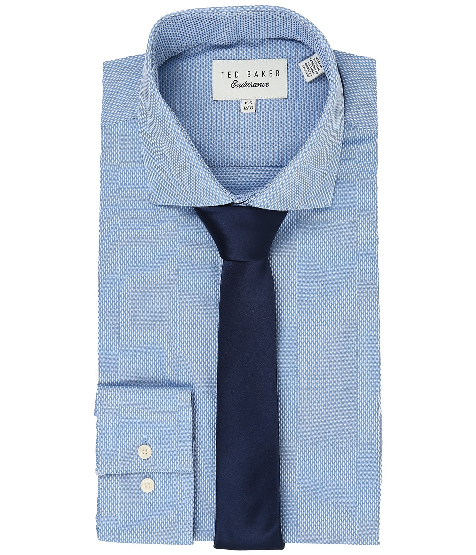 Ted Baker - Millin Endurance Slick Rick Shirt (Blue) Mens Long Sleeve Button Up