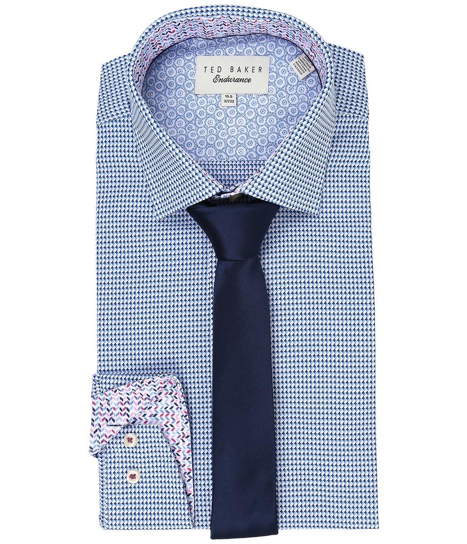 Ted Baker Abasing Endurance Sterling Shirt Blue Mens Long Sleeve Button Up