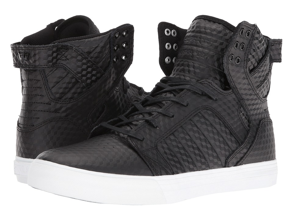 Supra - Skytop (Black Leather/White) Mens Skate Shoes