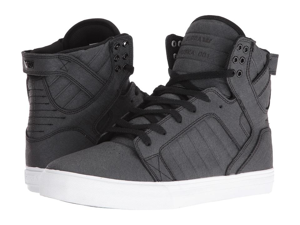 Supra - Skytop (Black Fiberglass/White) Mens Skate Shoes