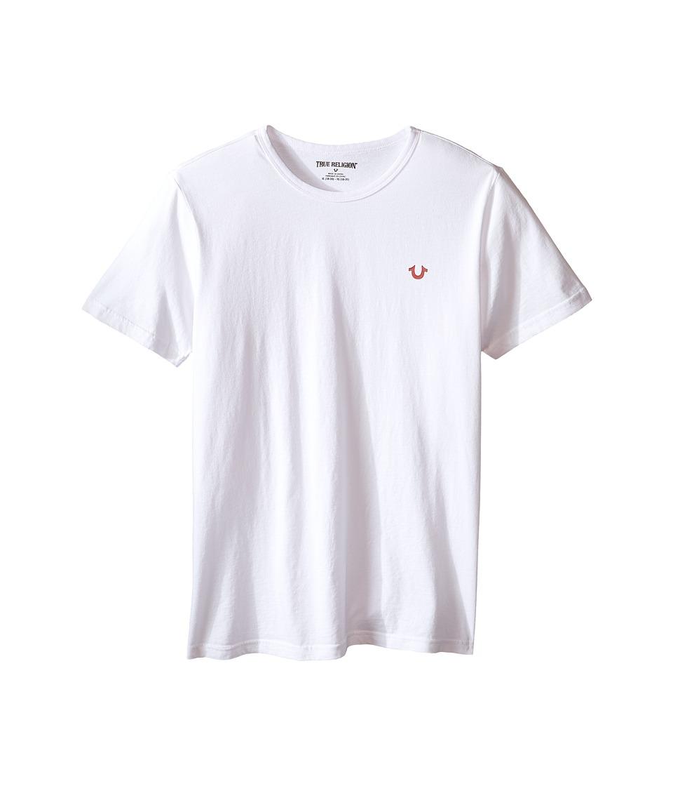 True Religion Kids - Branded Logo T-Shirt (Big Kids) (White) Boy