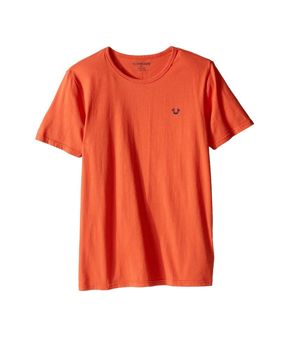 True Religion Kids - Branded Logo T-Shirt (Big Kids) (Burnt Orange) Boy