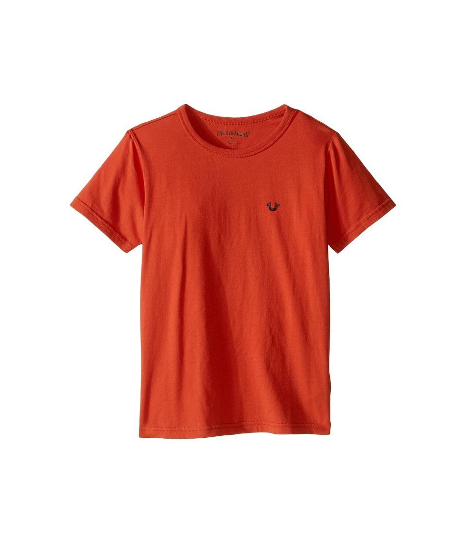 True Religion Kids - Branded Logo T-Shirt (Toddler/Little Kids) (Burnt Orange) Boy