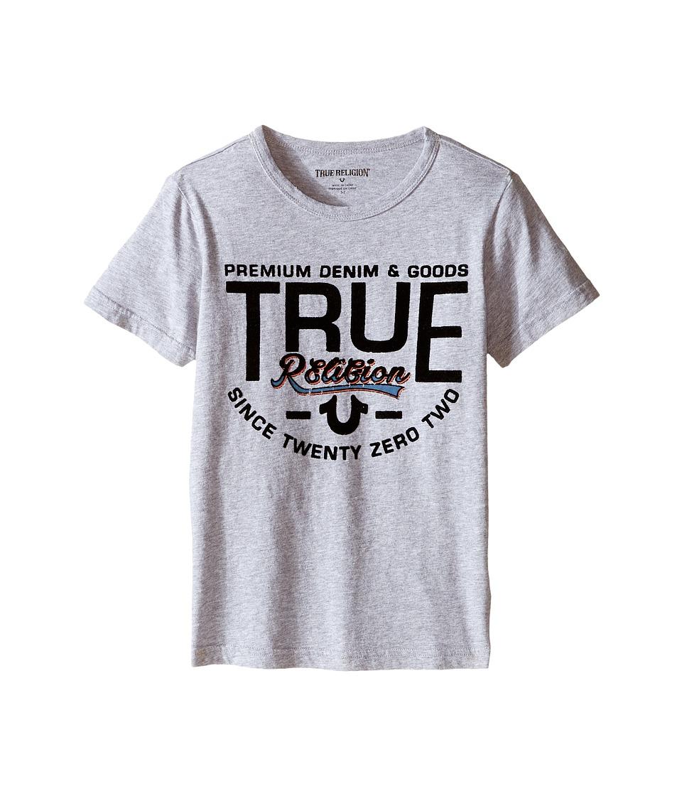 True Religion Kids Denim Goods T-Shirt (Toddler/Little Kids) (Heather Grey) Boy