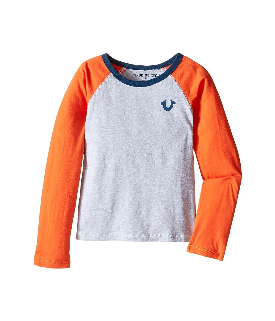 True Religion Kids - Color Block Raglan T-Shirt (Toddler/Little Kids) (Heather Grey) Boy