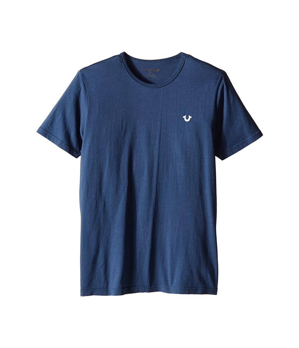 True Religion Kids - Branded Logo T-Shirt (Big Kids) (Peacock Blue) Boy