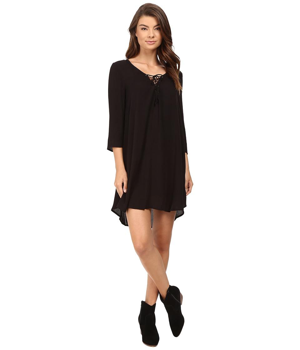 Image of Amuse Society - Addyson Dress (Solid Black) Women's Dress