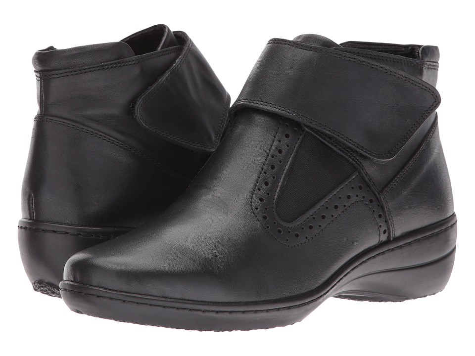 Spring Step - Katri (Black Leather) Women