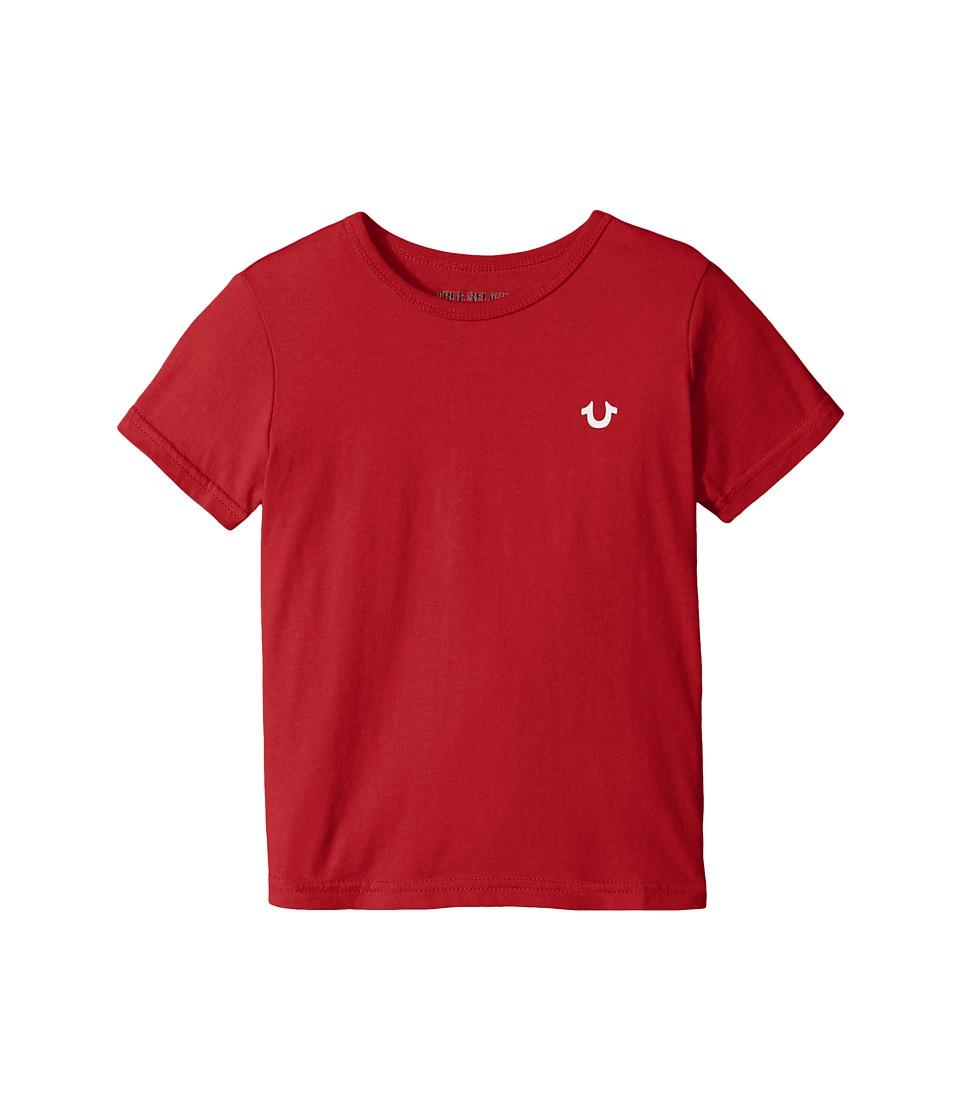True Religion Kids - Branded Logo T-Shirt (Big Kids) (Red) Boy