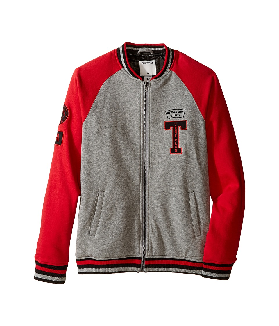 True Religion Kids Fleece Letterman Jacket (Big Kids) (True Red) Boy