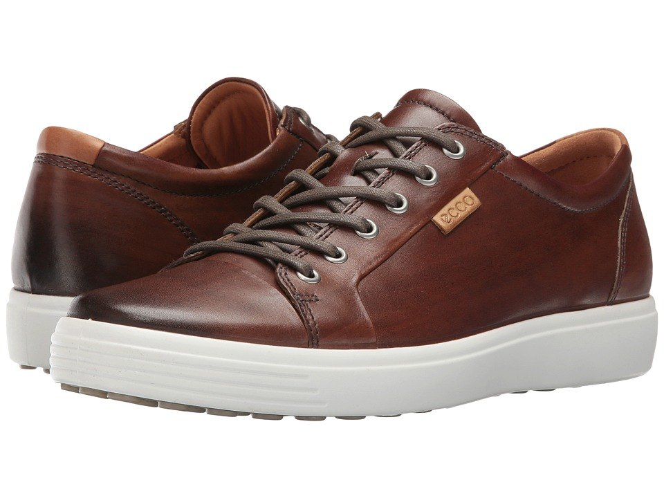 Ecco Soft 7 Premium Tie (Whisky) Men's Lace up casual Shoes