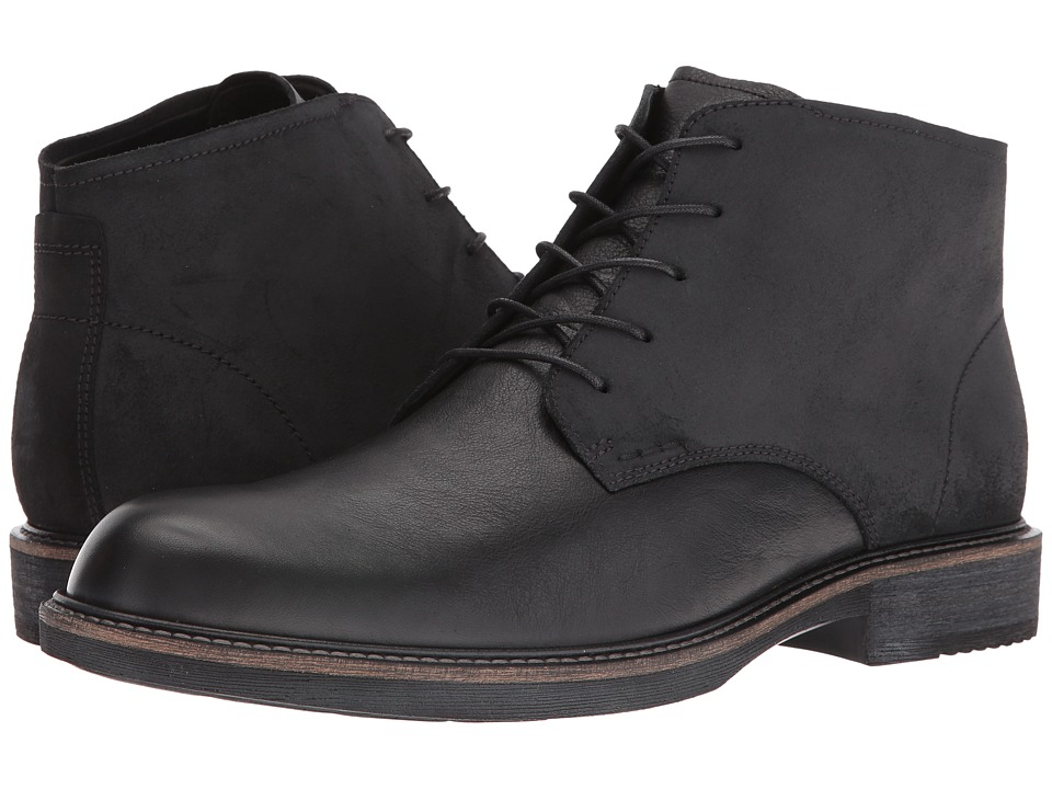 ECCO Kenton Plain Toe Boot (Black/Black) Men