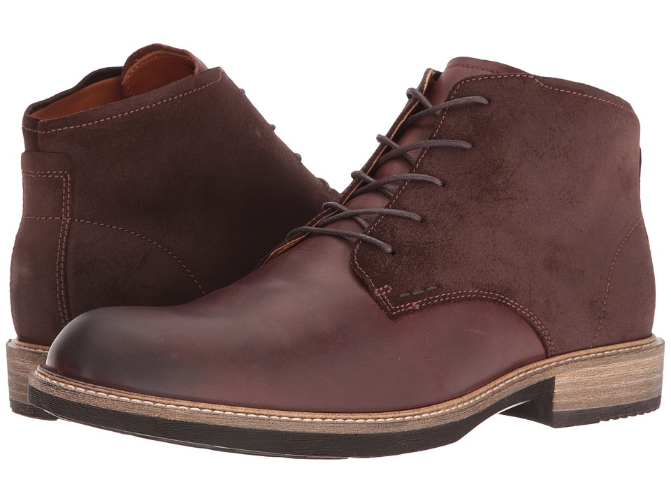 ECCO Kenton Plain Toe Boot (Mink/Mocha) Men