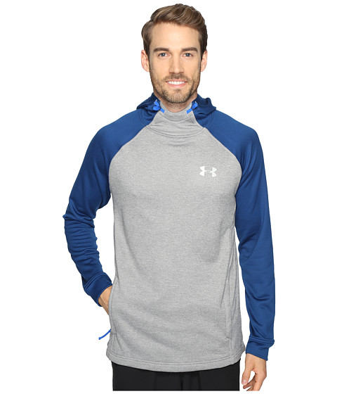 Under Armour Tech Terry Popover - True Gray Heather/Blackout Navy/Silver