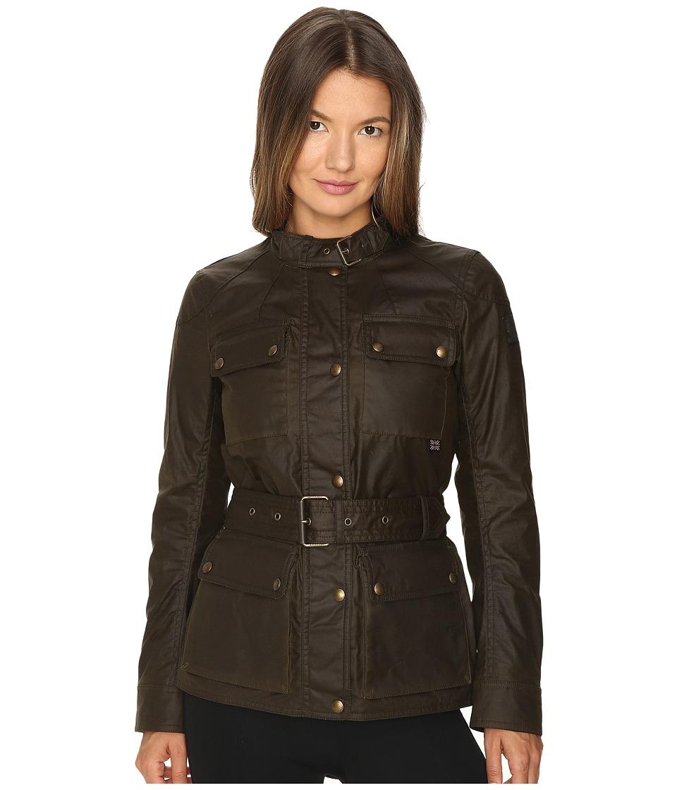 Image of BELSTAFF - Roadmaster 2.0 Signature 6 oz. Wax Cotton Jacket (Faded Olive) Women's Coat