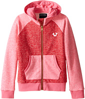 True Religion Kids - Mineral Wash Fleece Hoodie (Toddler/Little Kids)