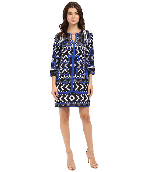 Vince Camuto Printed CDC T-Body with 3/4 Length Sleeves and Combo Binding