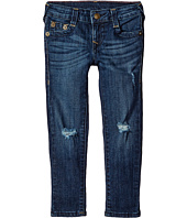 True Religion Kids - Casey Midnight & Gold Lurex Single End Jeans in Biker Blue (Big Kids)