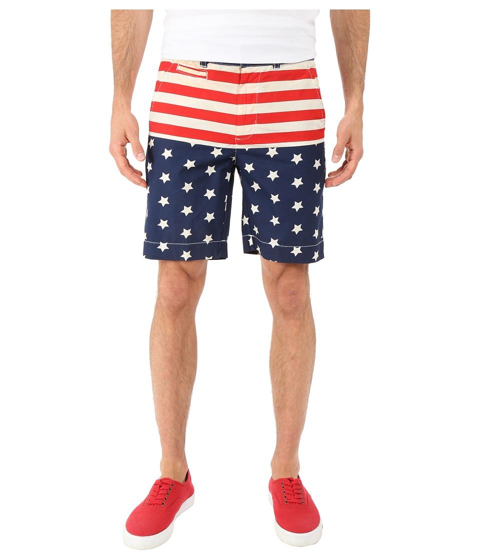 Vintage 1946 Americana Flat Front Shorts Navy Mens Shorts
