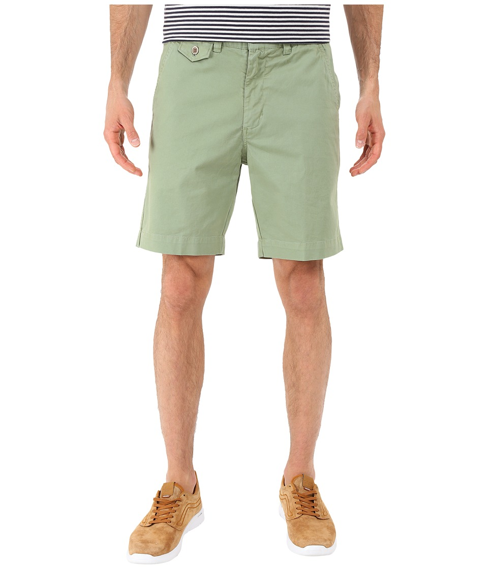 Vintage 1946 Stretch Twill Flat Front Shorts Shale Green Mens Shorts