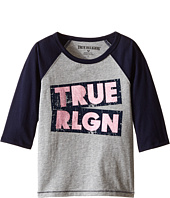 True Religion Kids - Long Sleeve Raglan Tee Shirt (Toddler/Little Kids)
