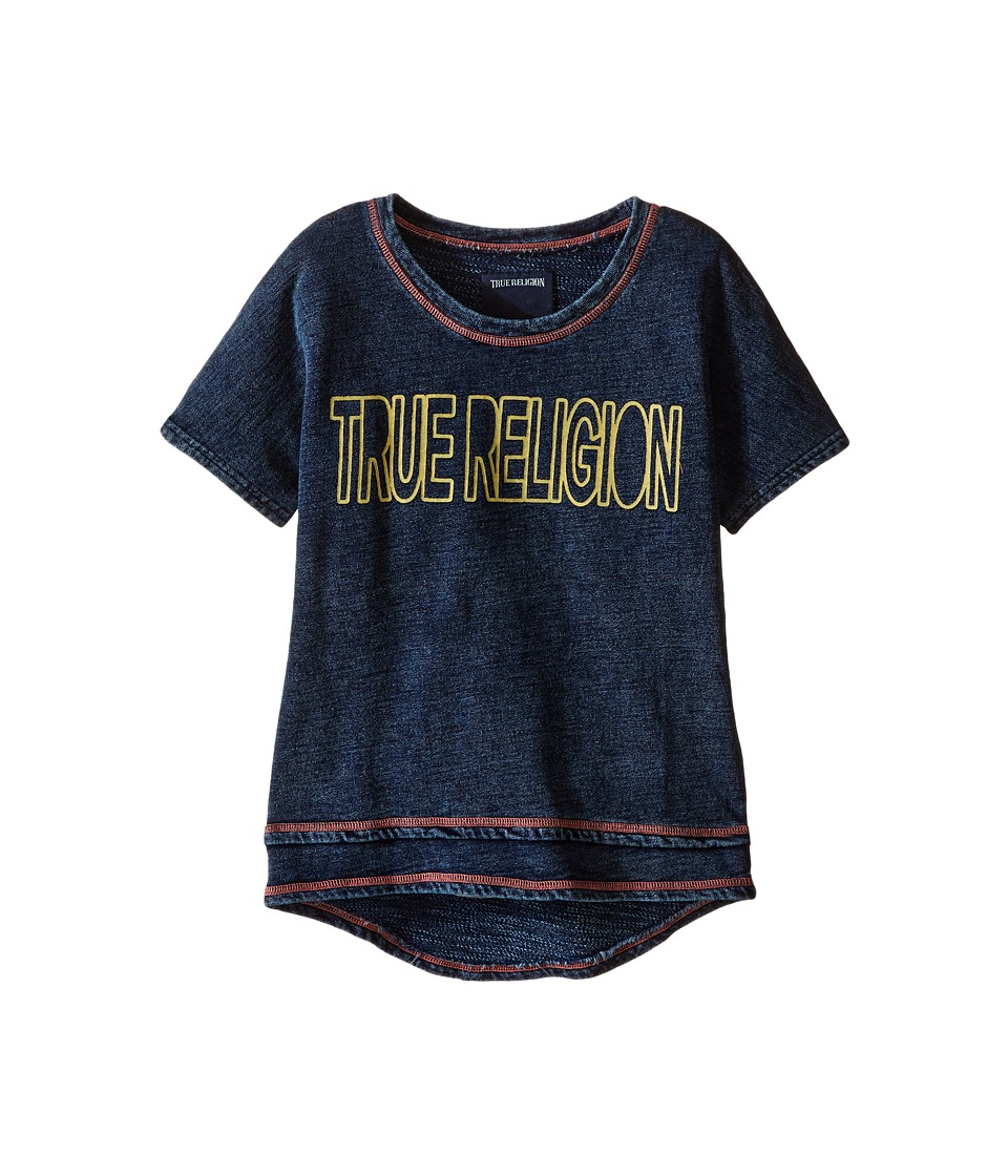 True Religion Kids Layered Dolman Tee Shirt (Toddler/Little Kids) (Midnight/Mineral Wash) Girl