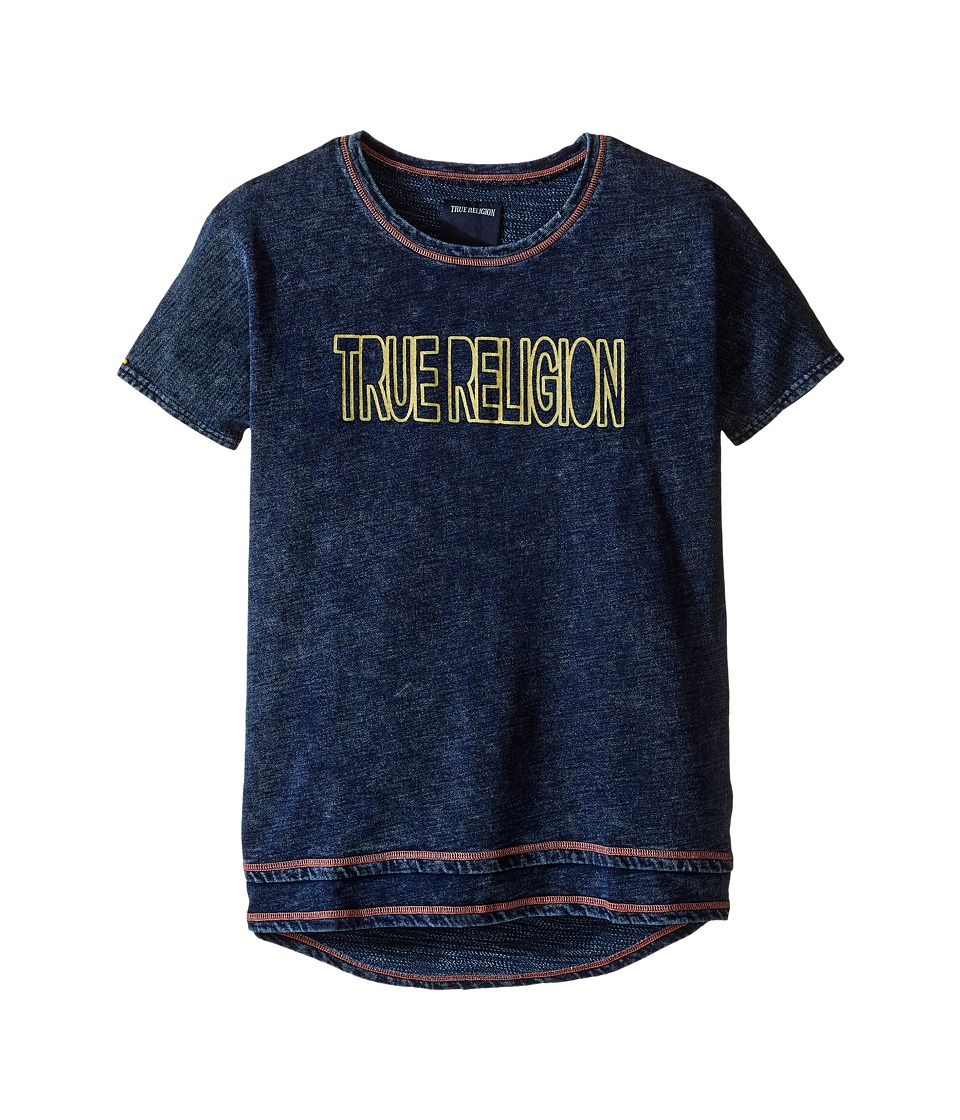 True Religion Kids Layered Dolman Tee Shirt (Little Kids/Big Kids) (Midnight/Mineral Wash) Girl