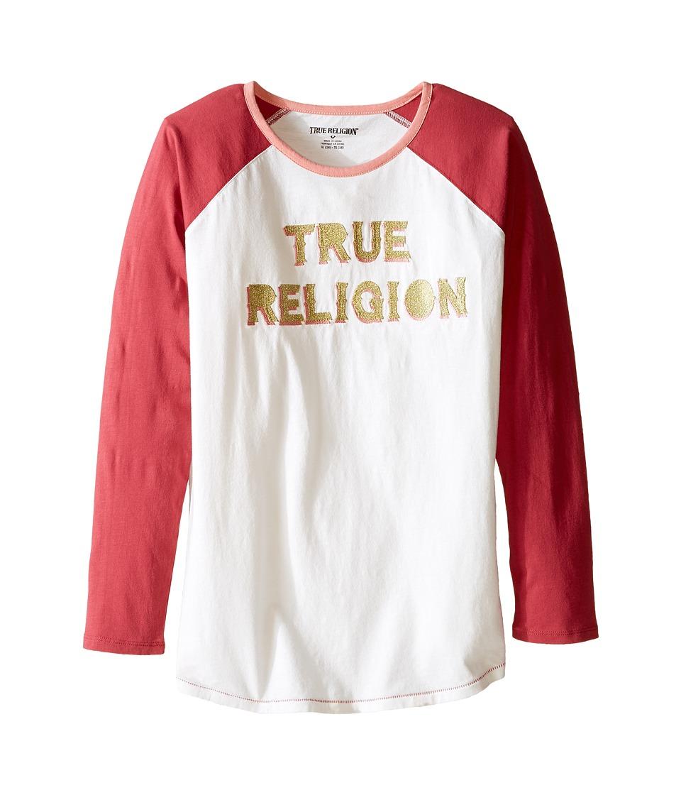 True Religion Kids - Long Sleeve Raglan Tee Shirt (Little Kids/Big Kids) (Moonshine) Girl